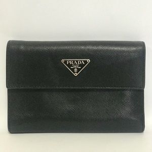 Authentic Prada Soft Leather TriFold Wallet